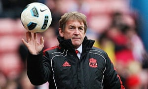 The Liverpool manager, Kenny Dalglish