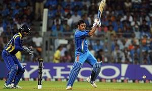 mahendra dhoni steers india past sri lanka in cricket world cup