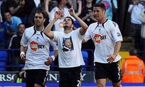 Bolton's Tamir Cohen celebrates his goal