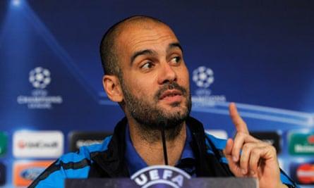 Barcelona's manager Pep Guardiola