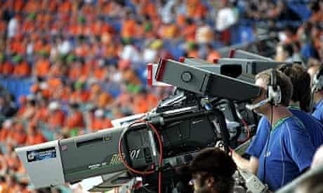 Cameramen work during 2006 World Cup football match between Serbia & Montenegro and Netherlands