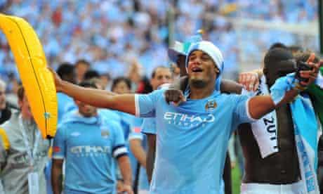 Vincent Kompany celebrates FA Cup success for Manchester City