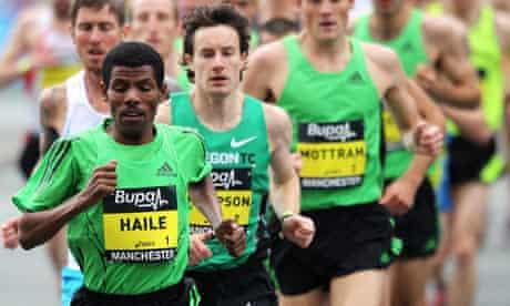 Haile Gebrselassie won the Great Manchester Run