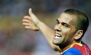 Barcelona's Brazilian defender Dani Alves
