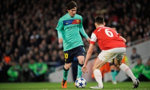 Lionel Messi, Arsenal v Barcelona