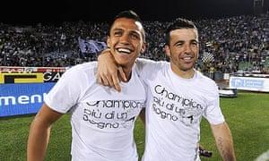 Alexis Sanchez and Antonio Di Natale of Udinese