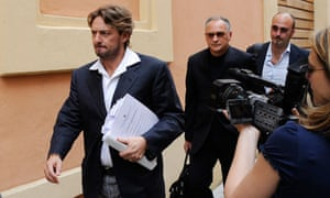 Former Italy striker Giuseppe Signori (L) was arrested for alleged involvement in match-fixing
