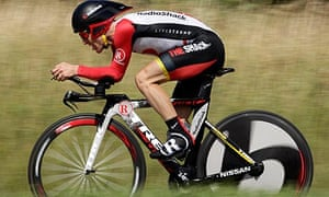 Radioshack's Levi Leipheimer during the time trial on the final stage of the Tour de Suisse