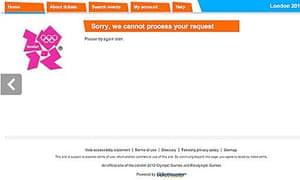 Olympic ticket website screengrab