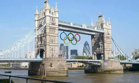 Olympic rings to light Tower Bridge