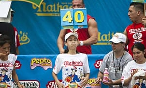 Competitive Eaters at the International Hot Dog Eating Contest