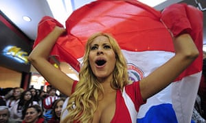 A Paraguay supporter after the team's Copa América semi-final win