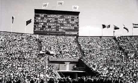The 1948 London Olympics open at Wembley Stadium