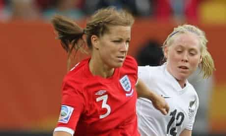 England's Rachel Unitt at the Women's World Cup 2011