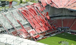 Second Death Following Collapse Of Fc Twente Stadium Roof Football The Guardian