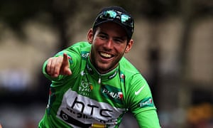 Mark Cavendish in the Tour de France's green jersey