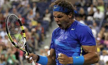 Rafael Nadal celebrates during his US Open semi-final win over Andy Murray