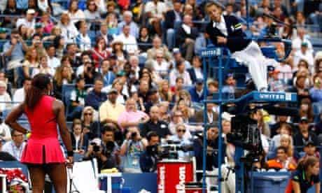 Serena Williams, tennis player, left