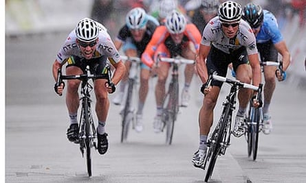 Mark Cavendish wins the sprint on the final stage of the Tour of Britain