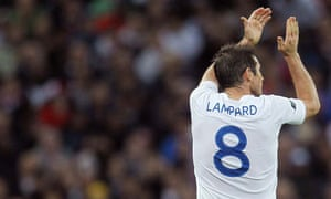 Frank Lampard applauds the Wembley crowd as he is substituted during England's 1-0 win over Wales