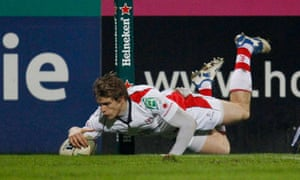 Andrew Trimble scores for Ulster