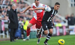 Newcastle's Hatem Ben Arfa in action against QPR