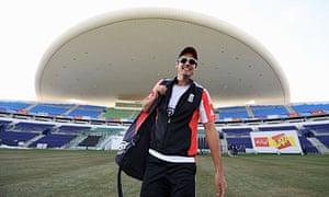 Alastair Cook in Abu Dhabi