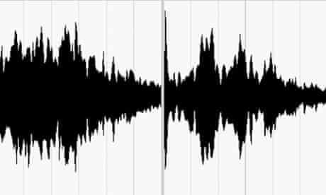 Soundwave clips of Victoria Azarenka and Maria Sharapova showing the decibel levels of their shreaks