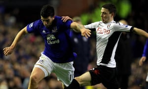 Denis Stracqualursi is challenged by Chris Baird