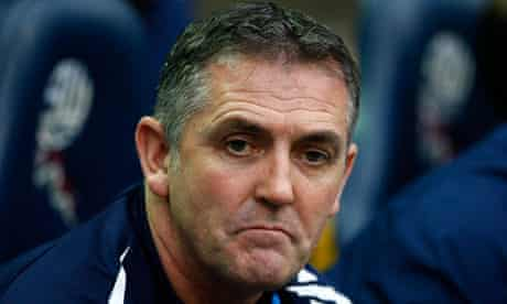 The Bolton Wanderers manager Owen Coyle looking sad
