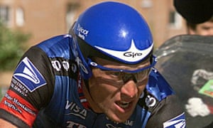 Lance Armstrong riding in the Tour of Spain in September 1998