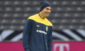 Zlatan Ibrahimovic in training