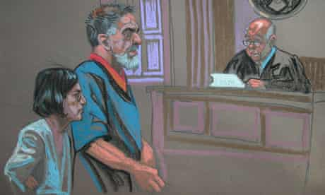 Iranian-American citizen Manssor Arbabsiar as he pleads guilty at New York Federal Court