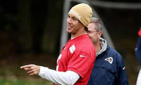 The St Louis Rams quarterback, Sam Bradford