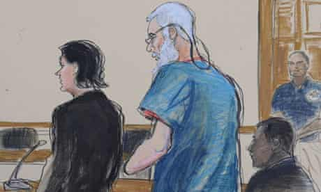 defense attorneys Sabrina Shroff and Jerrod Thompson Hicks represent Abu Hamza al- Masri