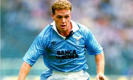 Paul Gascoigne in action for Lazio