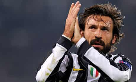Juventus's Andrea Pirlo applauds the crowd