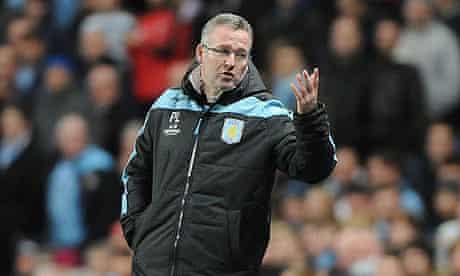 Paul Lambert Manchester City vs Aston Villa