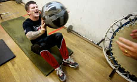 Hatton in training for his fight against Senchenko