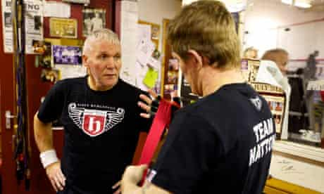 Hatton with his new trainer, Bob Shannon