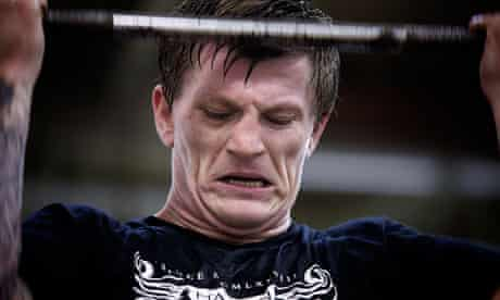 More hard time in the gym for Ricky Hatton