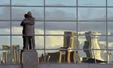 A statue of Alex Ferguson