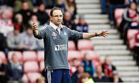 Martin O'Neill, the Sunderland manager, was at home when he received calls over Twitter reports