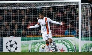 Shakhtar Donetsk's Brazilian striker Lui