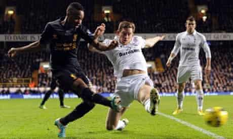 Raheem Sterling in action for Liverpool against Tottenham