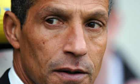 The Norwich manager, Chris Hughton
