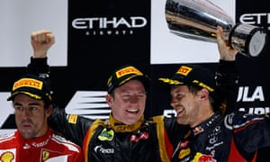 Fernando Alonso, Kimi Raikkonen, Sebastian Vettel