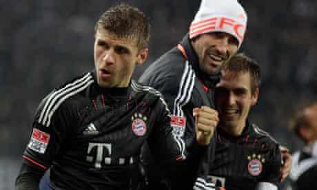 Bayern's Thomas Müller celebrates