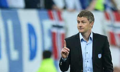 The Molde coach, Ole Gunnar Solskjaer