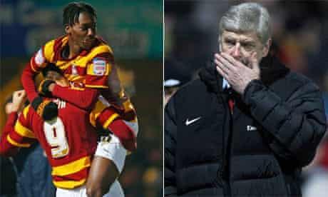 Arsène Wenger and Bradford City